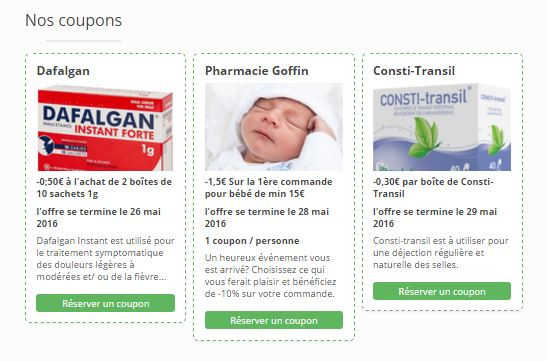 Bons de réduction pharmacie