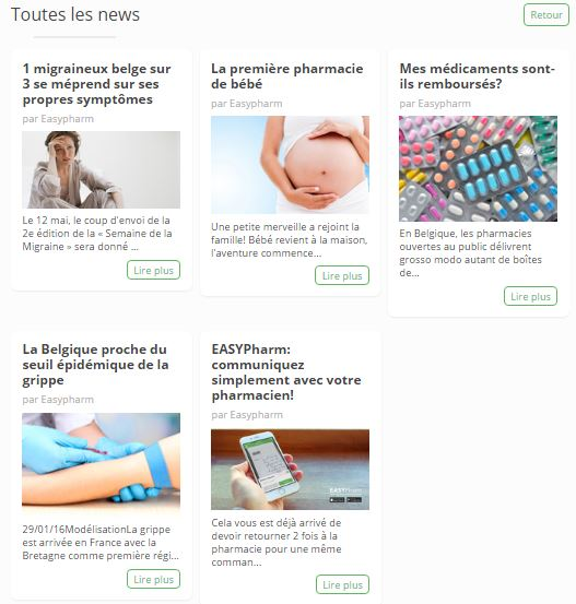 Articles Site web Pharmacie