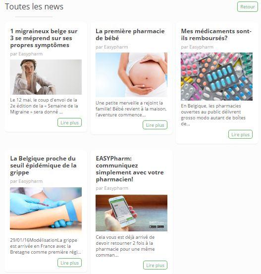 Articles Site web Pharmacie